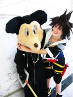 Mickey and Sora by MonkeyHeartless