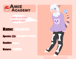 Amie Academy Application: Malinka by NekoMewMix