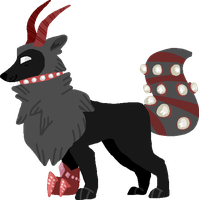 Lineless Redhorn Wolf by Hella-Majestic