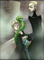 DH- Scorpius and Daddy by Buuya