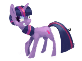 Quick twilight sketch by verrmont