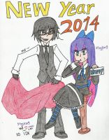 New year 2014 by art1st-guy