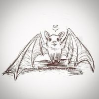Drawlloween Day 14: Bat by sobeyondthis