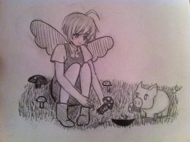 Mushroom picking by Siyome