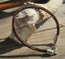 Braided Horsehair Bracelet - Lucy and Charlie by TarpanBeadworks