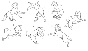 7 Hounds a Leaping- Free linearts by nyra350
