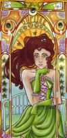 Sailor Jupiter Mucha style by Carcondis