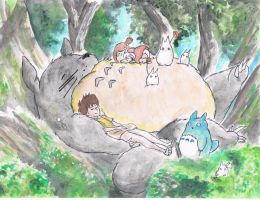My Neighbour Totoro~ by samui153