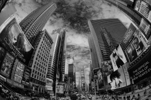 Times Square black n white by Leasepics