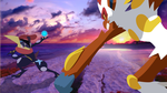 Greninja-vs-Infernape-Sunset by DrewJayJohnson