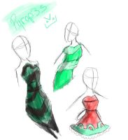 pyrope dresses by AskGeorgiaTheBlueJay