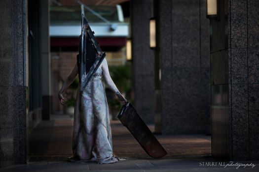 Lady Pyramid Head by TheHomeBodyProject