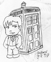 Dr who chibi David Tennant by OSuKaRuArT