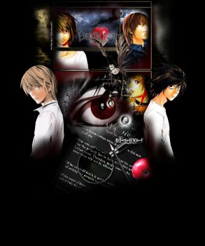 Death Note YouTube Bg by oictvoART