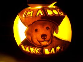 Advice Dog Pumpkin by YXZY