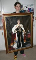 A painting of my cousin as a king by ihni