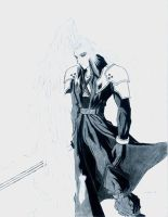 Sephiroth- white winged angel by Dark-Shenlong
