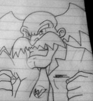 Sketch - Dr. Wily by WaniRamirez