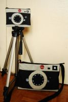leica camera bag and wee pouch by boredandcrafty