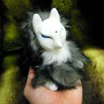 Smokey Grey Kitsune doll by ZombieHun