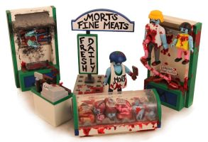 Morts Fine Meats Z.A.P. playset by zombiemonkie
