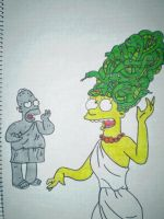 Marge and Homer by HeinousFlame