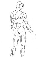 Anatomy Practice -Male Back by Twist-Foot
