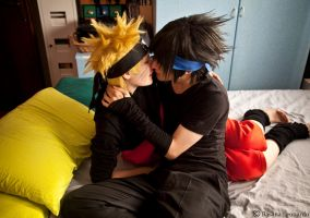 SasuNaru Kiss by Leox90