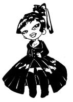 Chibi Gothic Queen by FreakyKitty