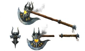 Runescape Dragon axe by JohnMcCambridge