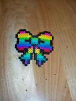 Perler: Rainbow Bow Hair clip by BangandBounce