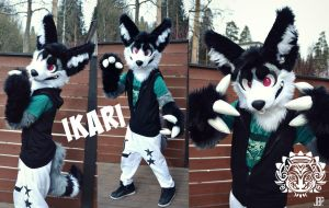 Ikari the monster fennec fursuit by RaviTheBlueTiger