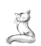 Just a simple cat lineart by Purple-Dark-Angela