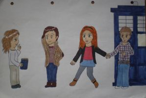 11th Doctor and Companions by purplepineapple77