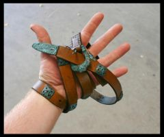 Viking leatherbelt with decor by Meatshop-Tattoo