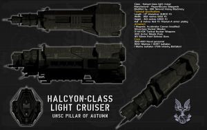 Halcyon class Light Cruiser by unusualsuspex