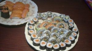 Sushi diner :D by Angelonia