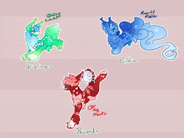 Critter Creatures - Color Exploso Auction by LittleCakeCrumbs