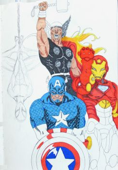 Avengers and Heroes by Ben Moore by Booth-House-ArtGroup