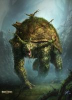 Forest Turtle Monster by ARTOFJUSTAMAN