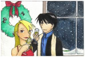 FMA-Winter Party Couple by EvanescentRose116