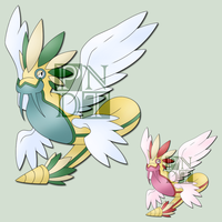 Fakemon QUETZPARCE by psychonyxdorotheos