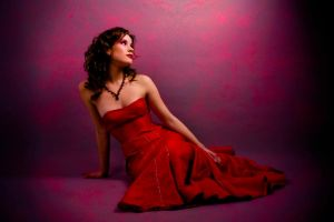 woman in red by ronino