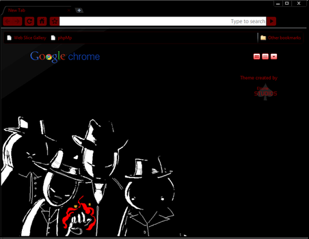 'Black' Chrome Theme by elrunethe2nd