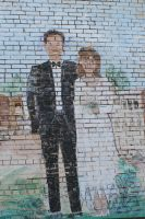 Painted Wedding Mural by Rjet33