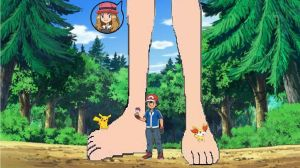 Ash with Giantess Serena by ChipmunkRaccoon2