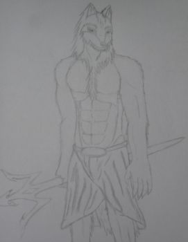 Just some Anthro Wolf guy by AkuaSeaWolf
