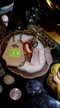 'Cognificent' Rose Quartz Necklace by K4TG4R