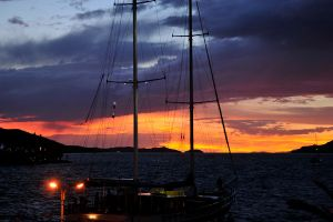 Sunset - Croatia port by wildplaces
