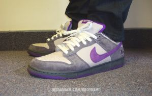 Nike Dunk Low SB 'Purple Pigeon' by BBoyKai91